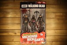 """THE WALKING DEAD UK ONLY Limited Edition Heroes 3 Pack 5"""" MICHONNE RICK & DARYL"""