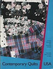"""CATALOGUE -  """"CONTEMPORARY QUILTS USA"""" - HISTORY OF QUILT-MAKING - BOSTON (1990)"""