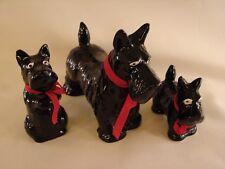 Lot Vintage Japan Takahashi Sa 00006000 n Francisco Scotty Terrier Figurine Black Red Bow