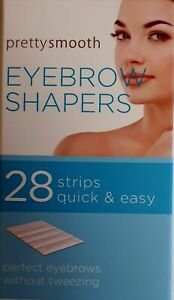 Pack of 28 Pretty Smooth Eyebrow Shapers Wax Strips Perfect for waxing