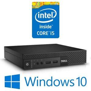 Dell Optiplex 3020M Micro PC Intel Core i5 4570T 8G 500G WiFi Win 10 Pro