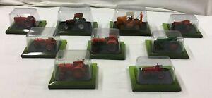 Lot 9 TRACTEURS miniature collection HACHETTE Someca Latil NEW HOLLAND Deutz W29