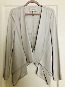 BCBG Maxazria Runway Gleam Drape Jacket Size Small $298