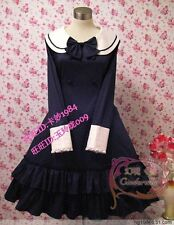Cosplay Sweet Love Lolita Vintage Nacy School Uniform Moe OP Dress (custom-made)