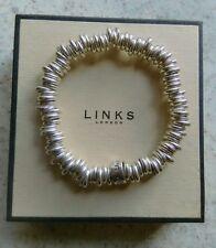 Genuine Links of London fully hallmarked 925 sweetie charm bracelet in box