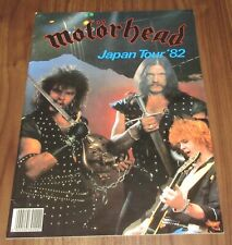 MOTORHEAD original JAPAN TOUR BOOK 1982 Lemmy MORE LISTED other items IN STOCK!
