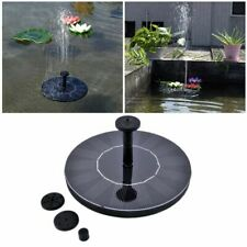 Bird Bath Fountain Solar Powered Floating Water Pump 3 Sprinkler Heads Solaire