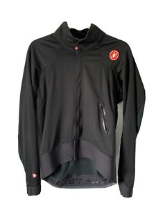Mens Castelli Alpha Windstopper Black Cycling Jacket. Size XL.