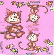 3 Mouchoirs en papier Chat Irrésistible Paper Hankies Cat serviette