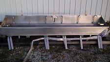 6 Bay Stainless Steel Sink, W/Knee Valves