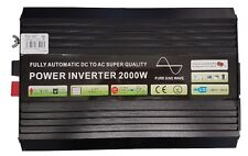 2000W/4000W (Peak) Pure Sine Wave Power Inverter 12V DC to AC Twin UK Plug NEW!