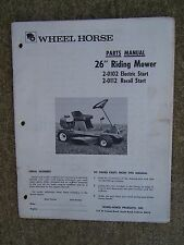 "1973 Wheel Horse 26"" Riding Mower 2-0102 2-0112 Parts Manual MORE IN OUR STORE U"