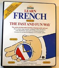 Barron's: LEARN FRENCH THE FAST AND FUN WAY Book and Audio Cassette Package