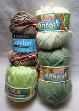 Lanas Stop Berroco Confort Comfort Tropical Green White Pink Blue Set Of 4 NWT