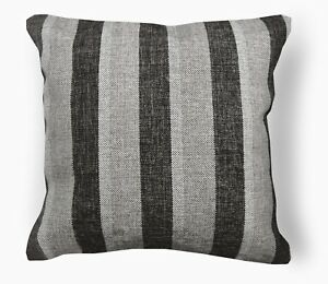 Qa105Ba Gray Brown Rough Linen Blend Check Stripe Cushion Cover/Pillow Case*Cust