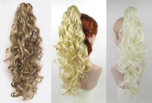 """20"""" LONG BIG LOOSE CURLS CURLY HAIR LAYERED PONYTAIL HAIRPIECE CLAW CLIP DELANIE"""