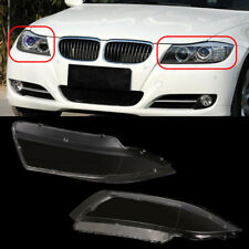 Pair Headlight Lens Cover Headlamp Clear for BMW E90 E91 4Door 2005-2008 07 CAO