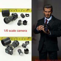 "1/6 Scale Digital Red Circle SLR Camera Set Scenes Accessories For 12"" Figure"