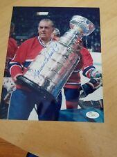 """Autographed/Signed Maurice """"Rocket"""" Richard, Allan Stanley Cup JSA#I34707"""