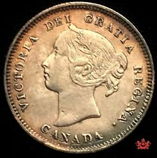1886 Canada 5 cents Small 6 - VF/EF - Lot#1524P