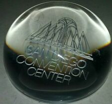 SOLID GLASS SAN DIEGO CONVENTION CENTER GLASS PAPER WEIGHT
