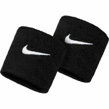 Sports Wrist Band Supporter Sweat Band Black 1 Pair free shipping