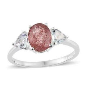 2.75ct Natural Pink Lapido Quartz & Topaz Ring in 925 Silver - Sizes M N P Q S T