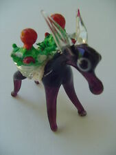 Little Donkey Handblown Glass Mexico Circa 80s