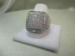 2.50Ct Diamond Wedding Finish Diamond Pinky Men's Ring Band 14K White Gold