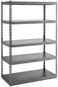 Gladiator Garage Shelving Unit 72 in. x 48 in. x 24 in. Steel Black 5-Shelf