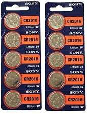 **FRESHLY NEW**10x SONY CR2016 Lithium Battery 3V Exp 2024 Pack 10 pcs Coin Cell