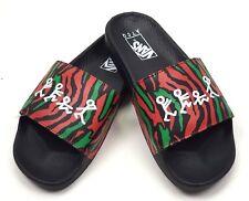 VANS X  A Tribe Called Quest ATCQ  Men's Slides Sandals Size 8 Black NEW