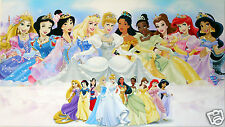 DISNEY PRINCESSES CANVAS  PRINT WALL ART PICTURE   18 X 32 INCH