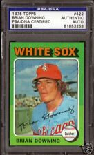 Brian Downing  Signed 1975 Topps #422  Slab PSA/DNA