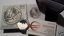 10 euro Italia 2013 argento Proof BE FENIS Valle Aosta Italie Italy Italien