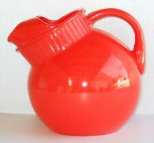 Anchor Hocking Fired on Orange Glass Ball Pitcher