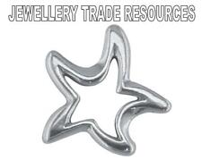 STERLING SILVER 12mm STAR BEAD CHARM JEWELLERY MAKING