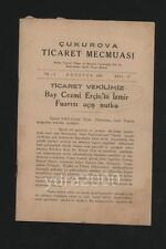 TURKEY SMYRNE IZMIR TOBACCO  EXPORTS BOOKLET 1939 TABLES STATISTIQUES