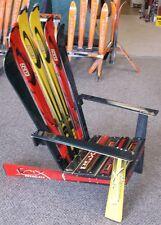 Ski Chair, Adirondack Styled,lay back,made from NEWandused  SKIS - SKCH003, ELAN