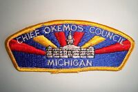 OA CHIEF OKEMOS COUNCIL SHOULDER PATCH CSP DARK PLASTIC BACK SERVICE FLAP
