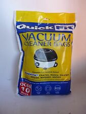 VACUM CLEANER BAGS QC68 10 BAGS CHARLES,HENRY,GEORGE,NV250,NVQ402,NV350