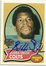 2001 Topps Archive BUBBA SMITH Signed Card Lambeau Field COLTS mich state sparta