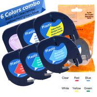 Dymo 16951 91221 91220 Letratag Band Kassette Etiketten paper plastic tape 12mm