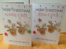Handmade personalised Christmas card- couple , son- daughter in law etc....