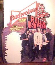 VERY RARE VINTAGE 1994 ROLLING STONES BUDWEISER SELF STANDING CARDBOARD POSTER
