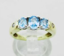 Anillos de joyería con diamantes azul topacio