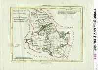 Dépt 89 - XVIII ème Superbe Carte Gravure Cuivre Aquarellée An VI (1797/1798)