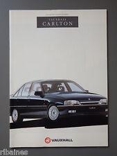 R&L Sales Brochure: Vauxhall Carlton 1991 Issue 1 2.0 2.6 3.0 GSi inc Estates