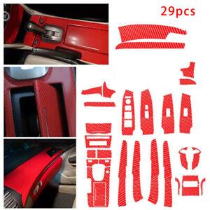 Für Honda Accord 2008-12 Rot Kohlefaser Auto DIY Inner Film Aufkleber Decal Kit