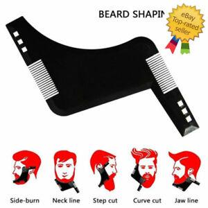 BEARD SHAPING STYLING TOOL Template Shaper Stencil Symmetry Trimming Beard Comb